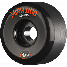 Mini Logo Skateboard Wheels A-cut 55mm 90A Black 4pk