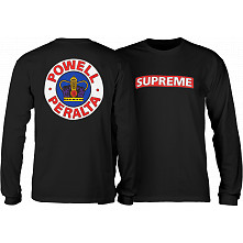 Powell Peralta Supreme L/S Shirt Black
