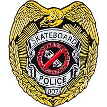 Powell Peralta Skateboard Police Lapel Pin