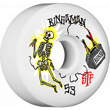 BONES WHEELS STF Pro Bingaman Zapped Skateboard Wheels Sidecuts 53mm 4pk
