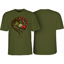 Powell Peralta Snakes T-shirt Military Green