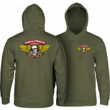 Powell Peralta Winged Ripper Hooded Sweatshirt Army