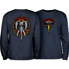 Powell Peralta Mike Vallely Elephant Midweight Crewneck Sweatshirt - Navy