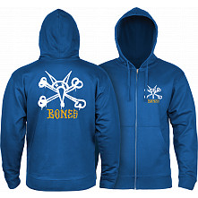 Powell Peralta Rat Bones Hooded Zip Sweatshirt - Royal Blue