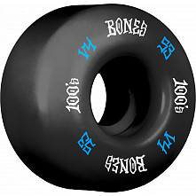 BONES WHEELS 100's #12 OG Formula 53x34 V4 Skateboard Wheels 100A 4pk Black