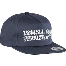 Powell Peralta Rat Bones Snap Back Cap Navy