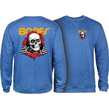 Powell Peralta Ripper Midweight Crewneck Sweatshirt - Royal Heather