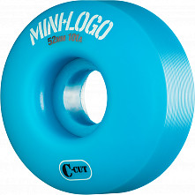 Mini Logo Skateboard Wheels C-cut 52mm 101A Blue 4pk