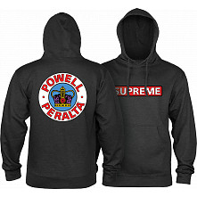 Powell Peralta Supreme Hooded Sweatshirt Mid Weight Charcoal Heather