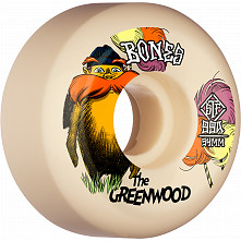 BONES WHEELS PRO STF Skateboard Wheels The Greenwood 54mm V5 Sidecut 99a 4pk