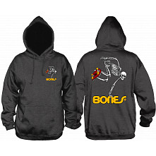 Powell Peralta Classic Skateboarding Skeleton Lightweight Hooded Sweatshirt Charcoal