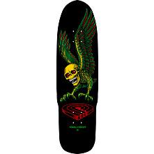 Powell Peralta Funshape Winged Skull 3 Skateboard Deck Pink/Blue - 8.75 x 31.75