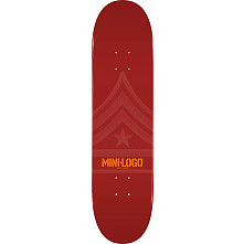 Mini Logo Quartermaster Skateboard Deck 191 Maroon - 7.5 x 28.65