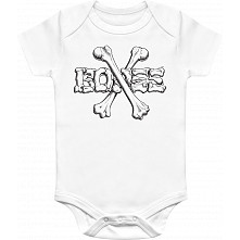 BONES WHEELS Crossbones Onesie White