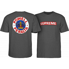 Powell Peralta Supreme T-shirt - Charcoal Heather