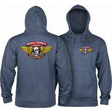 Powell Peralta WInged Ripper Hooded Sweatshirt Mid Weight Navy Heather