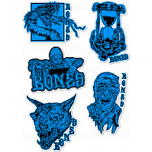 "BONES WHEELS Time Beasts 4"" Asstd. Sticker 20pk"