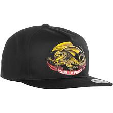 Powell Peralta Oval Dragon Snap Back Cap Black