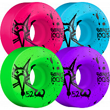 BONES WHEELS 100's 52mm Asstd(4pack)