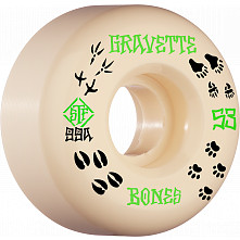 BONES WHEELS PRO STF Skateboard Wheels Gravette Trapper 53mm V2 Locks 99a 4pk
