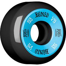 BONES WHEELS 100's 53x31 V5 Skateboard Wheels 100A Black 4pk