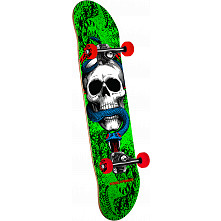 Powell Peralta Skull and Snake One Off '15' Green Complete Skateboard - 7.75 x 31.75