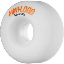 Mini Logo Wheel C-cut 52mm 101A White 4pk