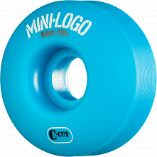 Mini Logo Skateboard Wheels C-cut 54mm 101A Blue 4pk