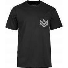 Mini Logo Chevron Pocket T-shirt - Black