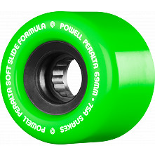 Powell Peralta Snakes Skateboard Wheels 69mm 75a 4pk Green