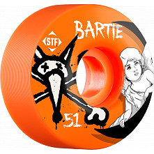 BONES WHEELS STF Pro Bartie Angel 51mm Orange Wheel 4pk