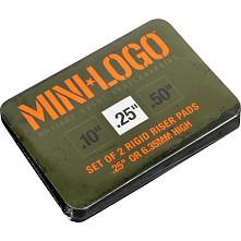 """Mini Logo Riser """"4"""" .25"""" Single Black"""