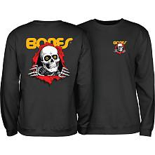 Powell Peralta Ripper Midweight Crewneck Sweatshirt - Black
