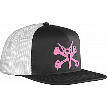 BONES WHEELS Cap Puff Black/Pink