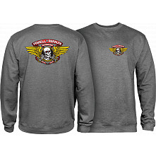 Powell Peralta Winged Ripper Midweight Crewneck Sweatshirt - Gunmetal