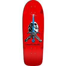 Powell Peralta OG Rodriguez Skull and Sword Red Skateboard Deck - Blem - 10 x 30