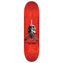 Powell Peralta Rodriguez Skull And Sword Blem Skateboard Deck red - 8.25 x 31.95