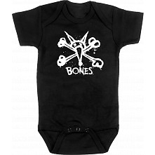 BONES WHEELS Vato Stacked Onesie Black