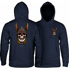 Powell Peralta Andy Anderson Skull Hooded Sweatshirt Mid Weight Navy