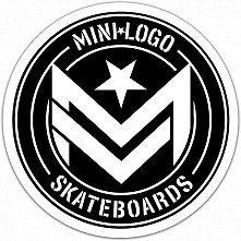 "Mini Logo Sticker Chevron ""3"" Circle Single"