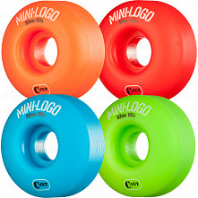 Mini Logo Skateboard Wheels C-cut 52mm 101A Assorted 4pk