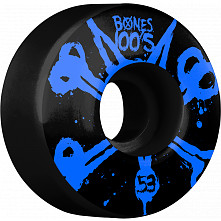 BONES WHEELS 100's Black 53mm 4pk