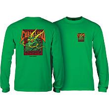 Powell Peralta Caballero Sreet Dragon L/S Shirt Kelly Green
