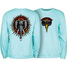Powell Peralta Mike Vallely Elephant Midweight Crewneck Sweatshirt - Mint Green