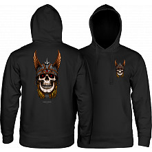 Powell Peralta Andy Anderson Skull Hooded Sweatshirt Mid Weight Black