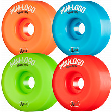 Mini Logo Skateboard Wheels A-cut 56mm 101A Assorted 4pk