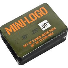 """Mini Logo Riser """"4"""" .5"""" Single Black"""