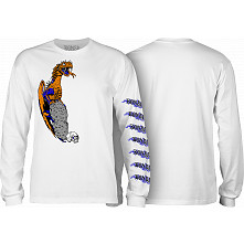 BONES WHEELS Cody Lockwood Dragon Longsleeve T-shirt White