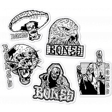 BONES WHEELS Night Watch Sticker 20 pack