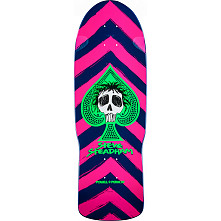 Powell Peralta Steadham Skull and Spade Skateboard Deck Pink/Navy - 10 x 30.125